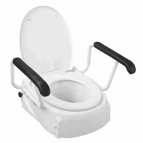 Adjustable Toilet Seat Raiser With Arms Total Mobility