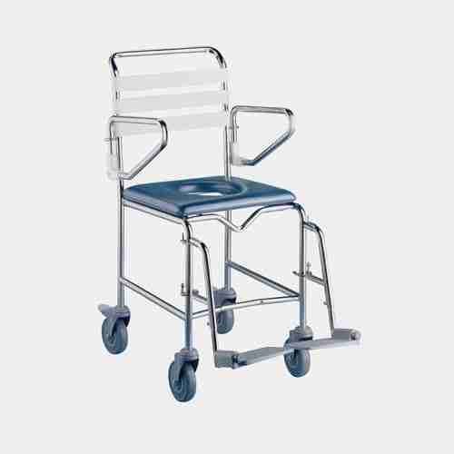 K Care Attendant Propelled 500mm Shower Commode Total Mobility