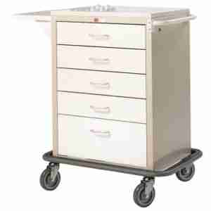 5 Drawer Anesthetic Trolley