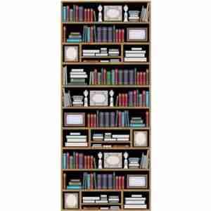 Door Mural -Bookcase